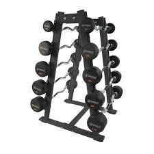 Torque Fitness Pro-Style Straight Rubber Barbell and Rack 20 to 110 lbs. Set - Fitness Trendz USA