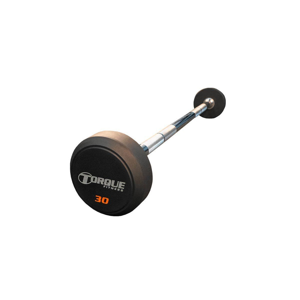 Torque Fitness Rubber Pro Style Straight Barbells 20 to 110 lb. Set - Fitness Trendz USA