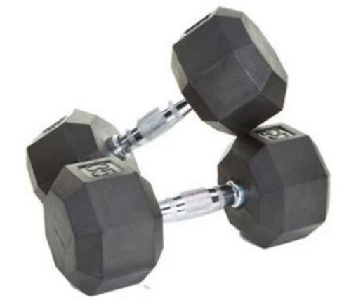 Troy Barbell & Fitness VTX USA 8 Sided Rubber Encased Dumbbell Set - Fitness Trendz USA