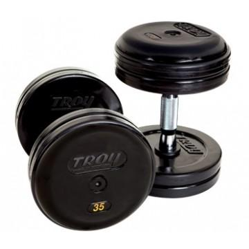 Troy Barbell & Fitness VTX USA Pro-Style Dumbbells Rubber Encased 5-50 lb Set - Fitness Trendz USA
