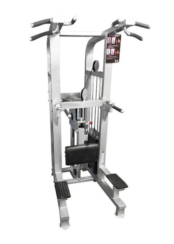 Muscle D Fitness Weight Assisted Chin Dip Combo Machine With Roller Bearings - Fitness Trendz USA