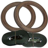 X Training Premium Wooden Gymnastic Rings with Straps - Fitness Trendz USA