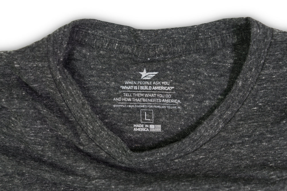IBA Logo Tri-Blend T-Shirt - Dark Heather Gray