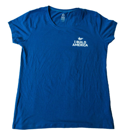 Cobalt I Build America T-Shirt - Women