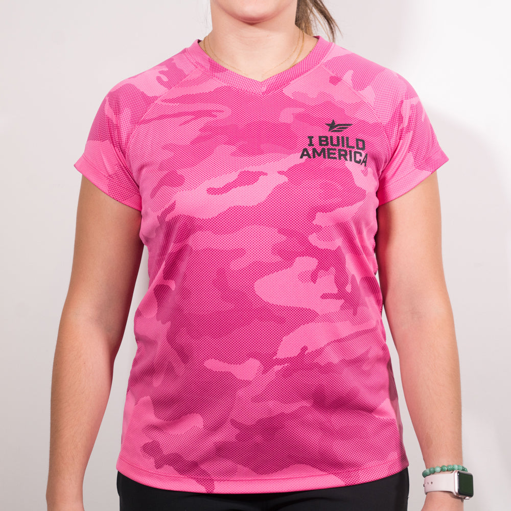Women's Hi-Vis Short Sleeve Camo T-Shirt