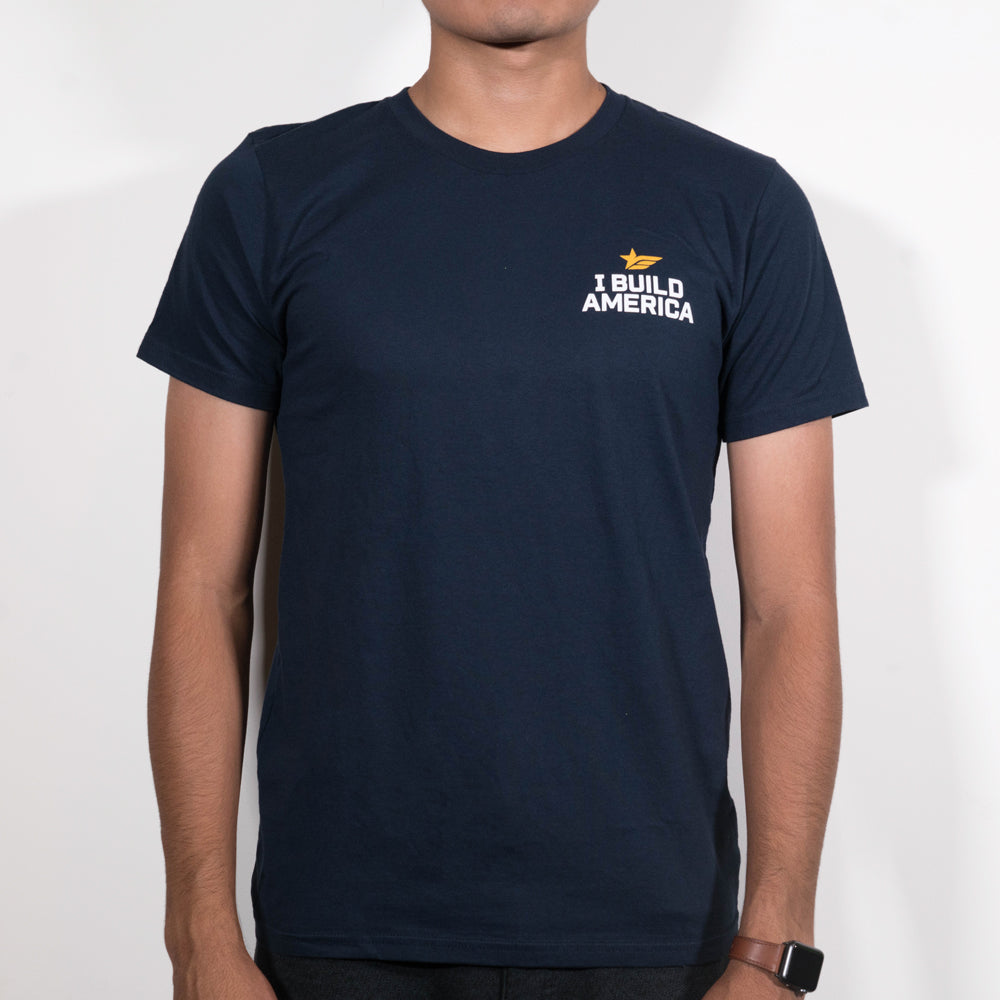 IBA Logo Cotton T-Shirt - Navy