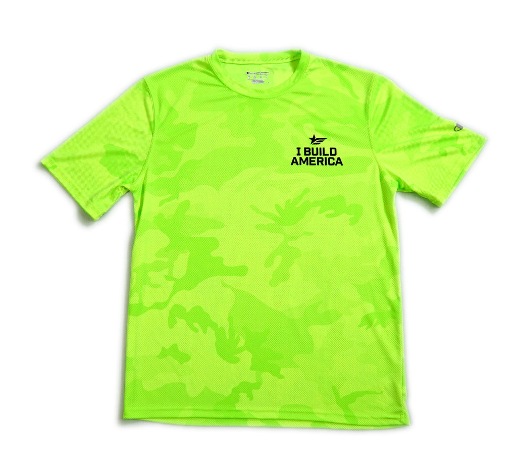 Men's Hi-Vis Short Sleeve Camo T-Shirt