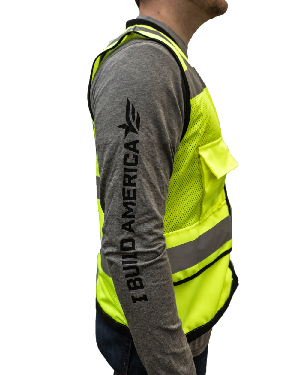 I Build America ANSI Certified Class 2 Heavy Duty Safety Vest