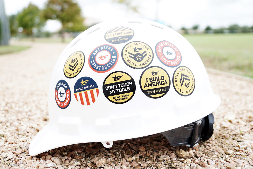Hard Hat Sticker | Under Construction Since Birth