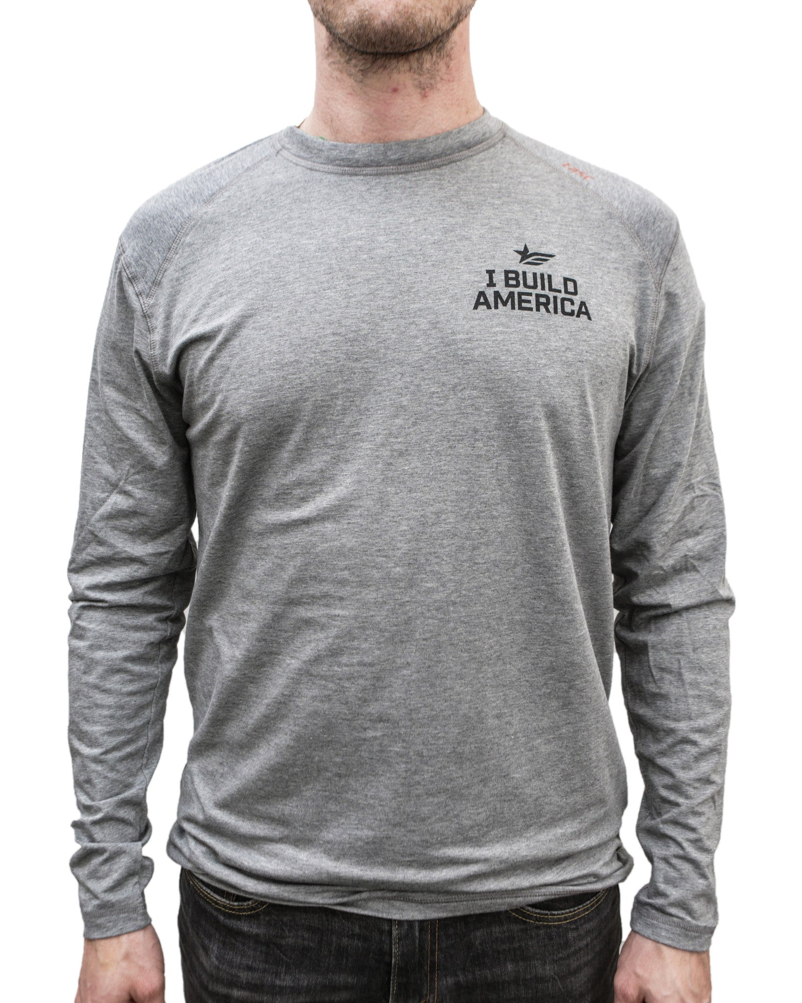 Design your own t-shirt long sleeve - I Build America Long Sleeve T Shirt W Logo Arm I Build America Store