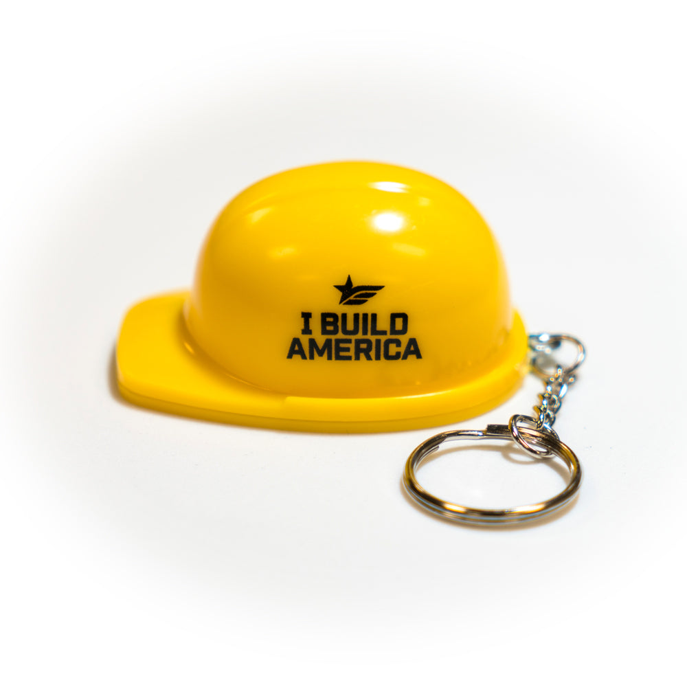 Plastic Hard Hat Bottle Opener Key Chain