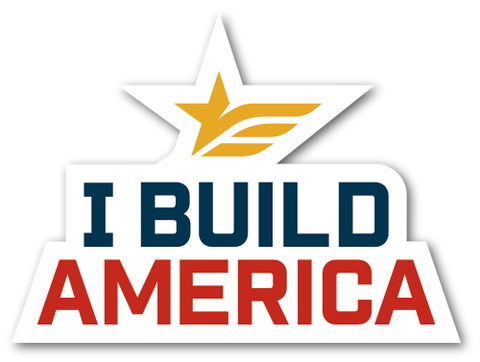 I Build America Logo Decal