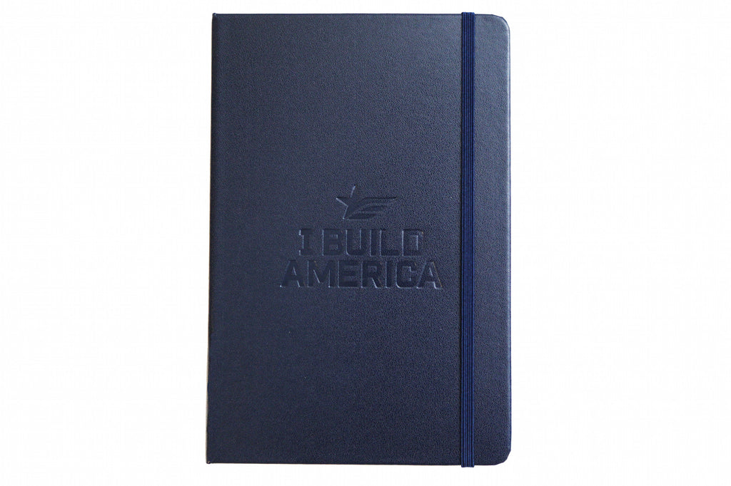 I Build America Embossed Notebook