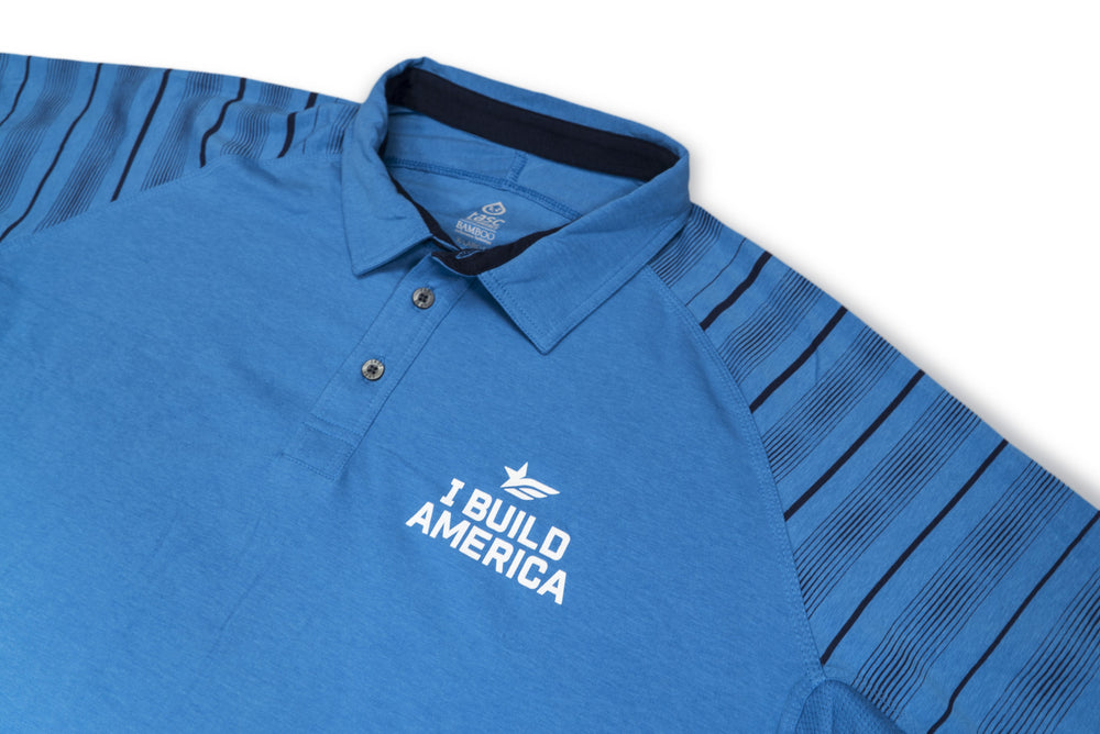 Blue I Build America Polo