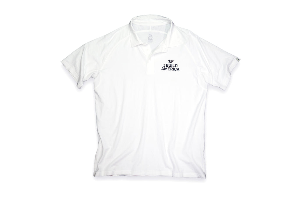 White I Build America Polo
