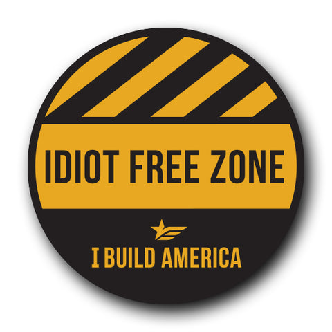 Hard Hat Decal | Idiot Free Zone