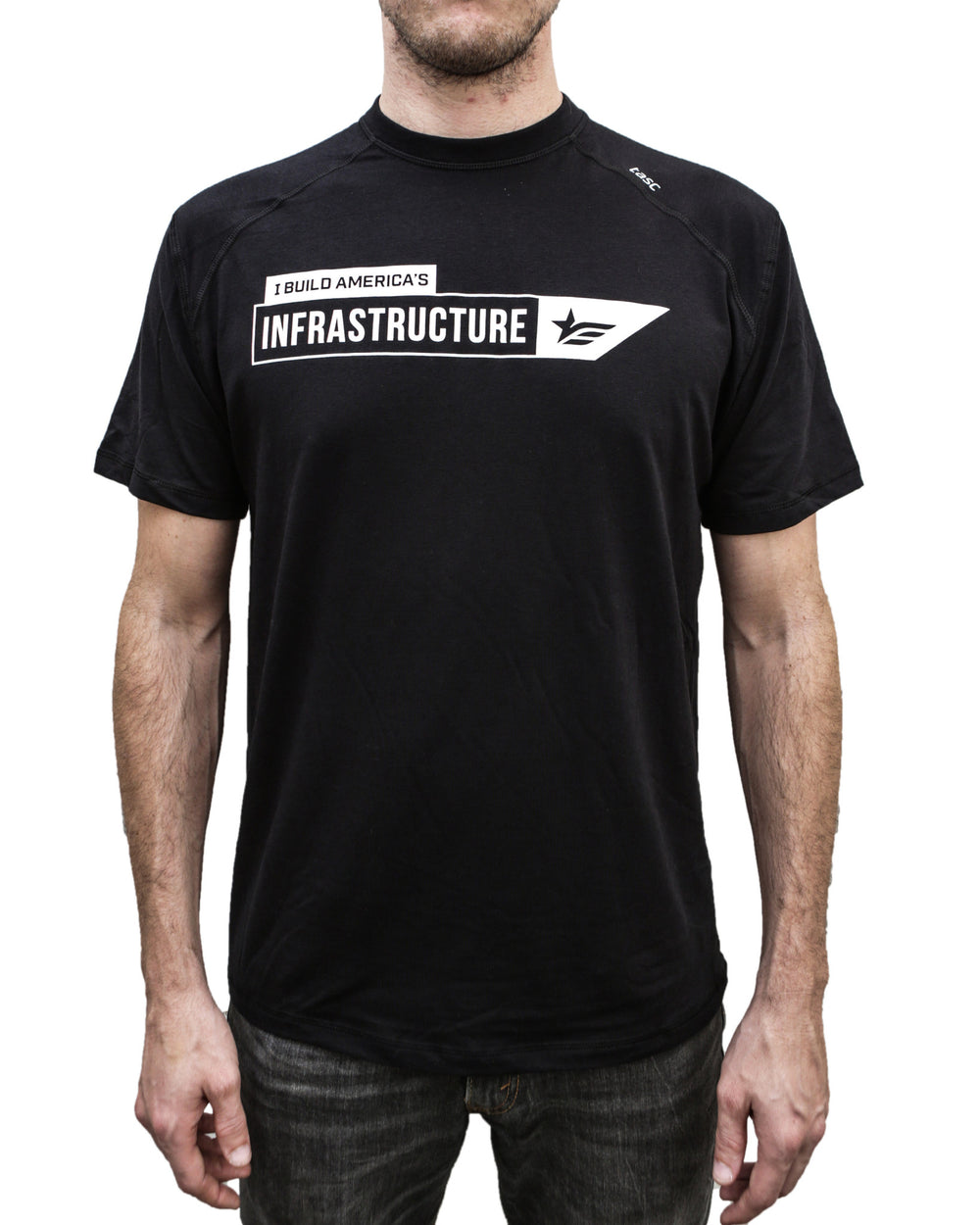 Black Infrastructure I Build America T-Shirt
