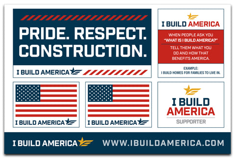 I Build America Sticker Sheet
