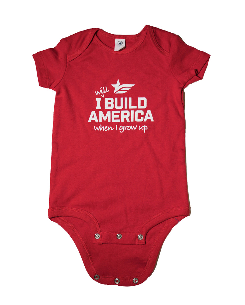Red Infant Cotton Onesie