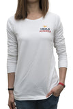 White I Build America Long-Sleeve T-Shirt - Women