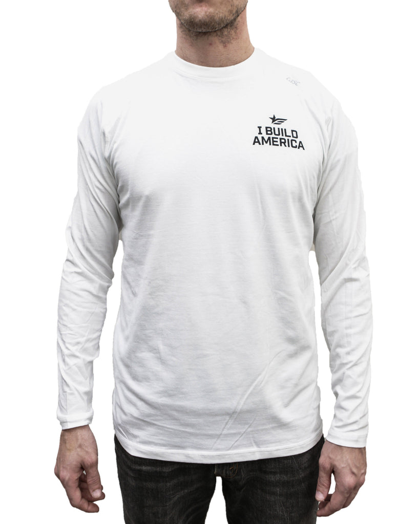 White I Build America Long-Sleeve T-Shirt
