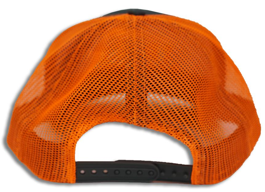 Neon Orange Trucker Mesh I Build America Hat
