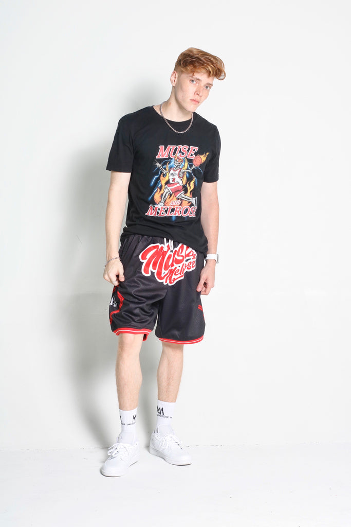 Muse & Melrose Logo basketball shorts(Mid Length)