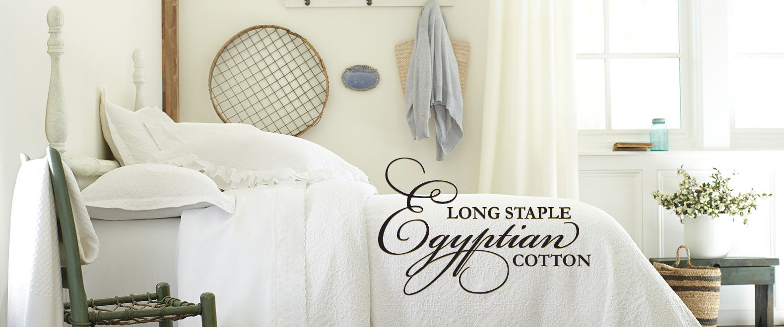 long-staple Egyptian cotton bedding