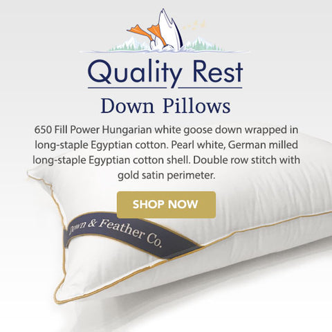 quality rest goose down pillows