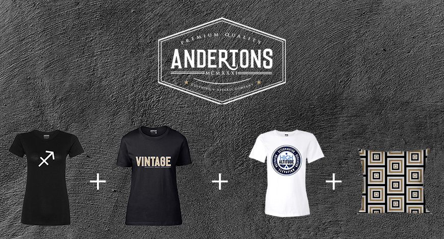 Anderton's launches new apparel and home decor lines, website.
