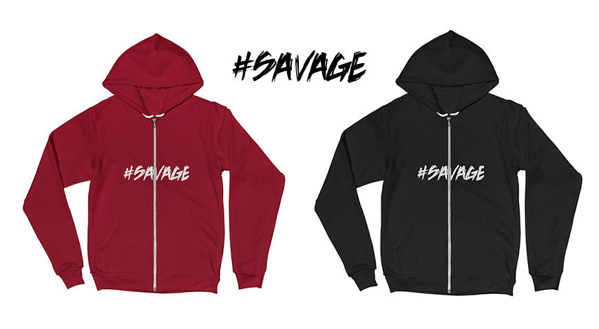 ANDERTON'S CLOTHING & APPAREL INTRODUCES NEW #SAVAGE ZIP HOODIE