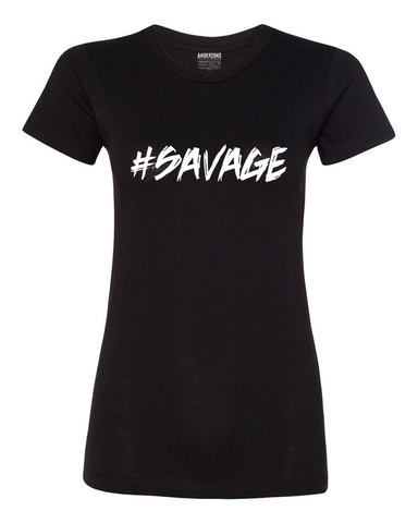 Anderton's Womens #SAVAGE T-Shirt - Black