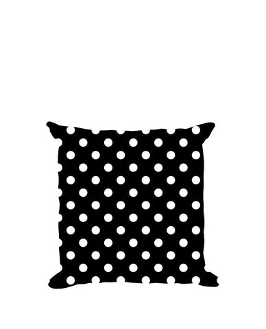 Anderton's Black and White Polka Dot Throw Pillow