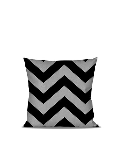 Anderton's Chevron Black and Gray Throw Pillow