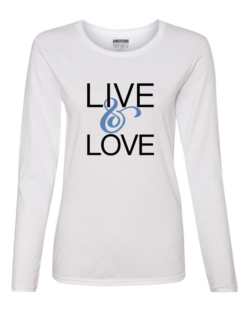 Live and Love Women's Long Sleeve T-shirt in White