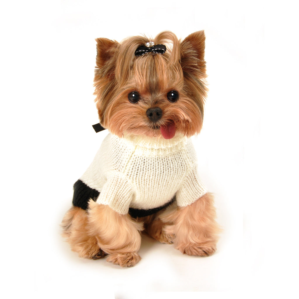 COCO MOHAIR DOG SWEATER - CREAM
