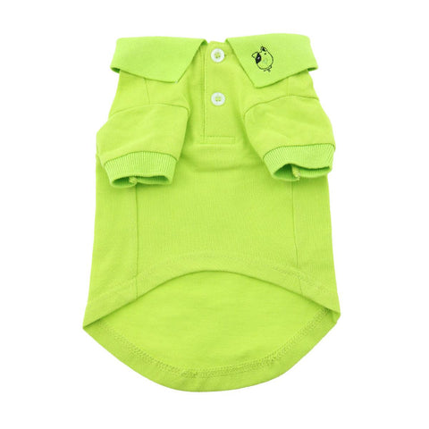 Dog Polo Shirt - Green Flash