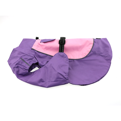 Dog Raincoat Body Wrap - Lavender and Pink