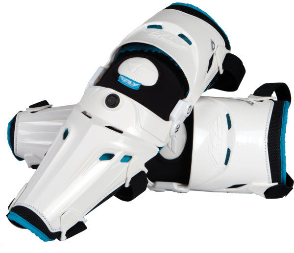 FLY 5 PIVOT KNEE GUARD (WHITE)