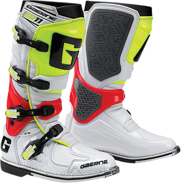 GAERNE SG-11 BOOTS WHITE/RED/YELLOW