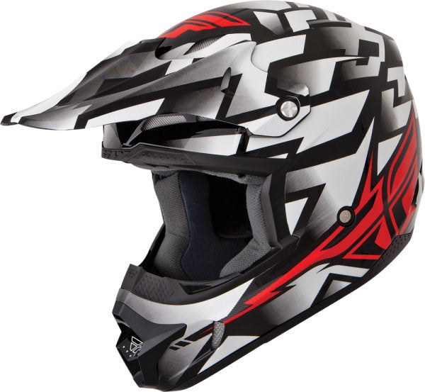 FLY KINETIC BLOCK OUT HELMET WHITE/RED