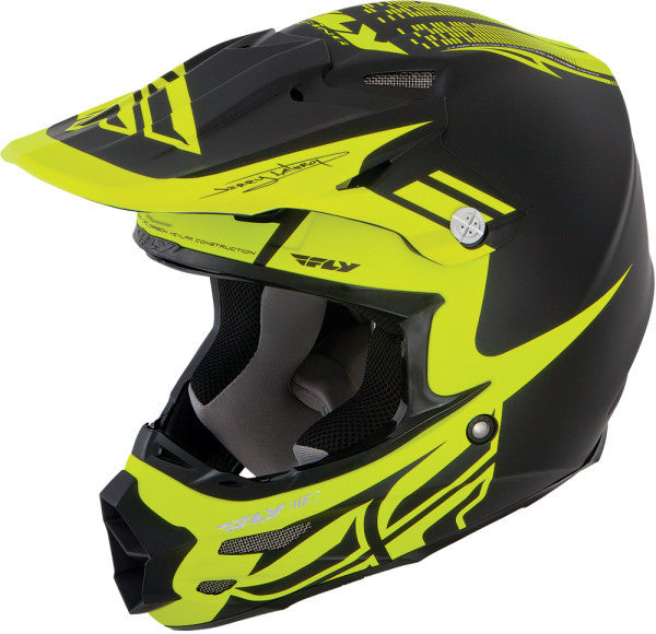 FLY F2 CARBON DUBSTEP HELMET MATTE BLACK/HI-VIZ