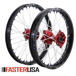 FASTER MOTOCROSS WHEELSET WITH EXCEL A60 RIMS - HONDA - YAMAHA- SUZUKI