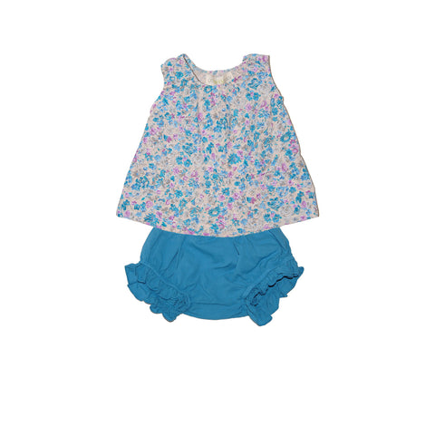 floral girls poplin baby set