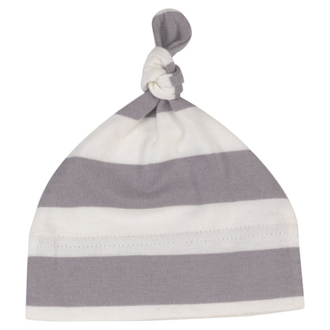 jumbo stripe knotted hat