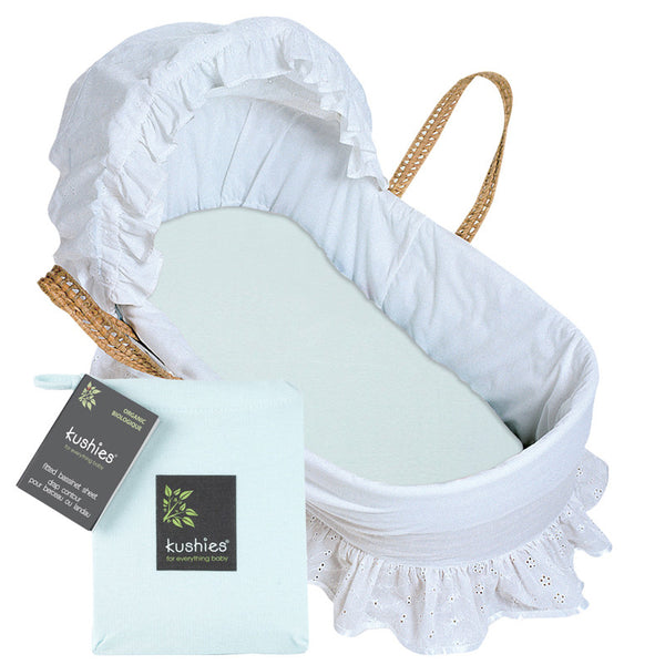 organic cotton bassinet fitted sheet - see all colors