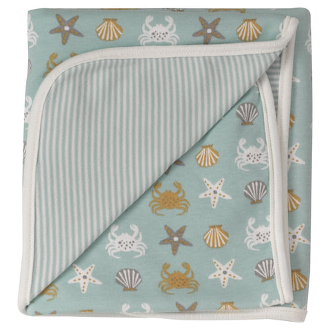 reversible crab swaddle blanket