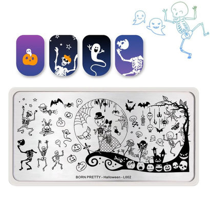 Born Pretty BP-L002 Halloween Stamping Plate
