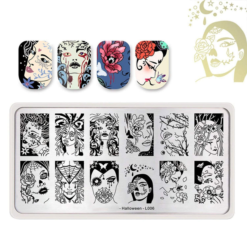 Born Pretty BP-L006 Halloween Stamping Plate