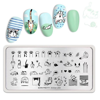 Born Pretty Animal L003 Stamping Plate